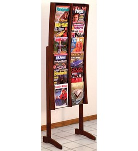 Stance Solid Wood Literature Rack - 12 Pocket by Wooden Mallet Image